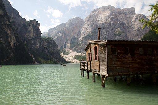 Lake, Mountain, Green, Excursion