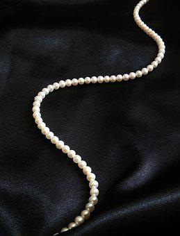 Pearl, Pearl Necklace, Jewelry, Necklace, Silk, White