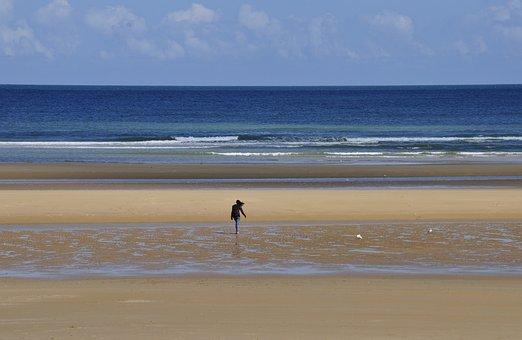 Beach, Omaha Beach, Sea, Landing Normandy, Normandy