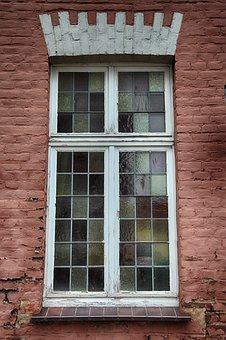 Window, Old, Leaded Glass, Old Window, Facade, Wood