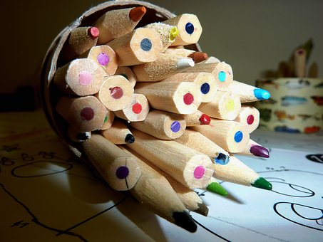 Pens, Colored Pencils, Paint, Color, Colour Pencils