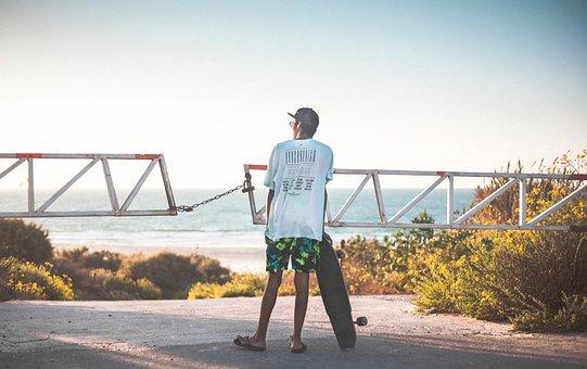 Skate, Ocean, Sea, By The Beach, Roller, Park