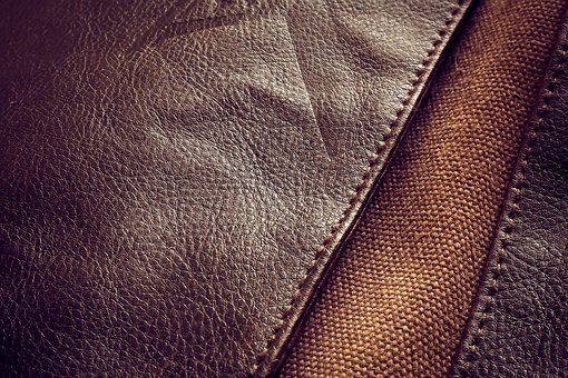 Leather, Cowhide Leather, Pattern, Abstract, Background