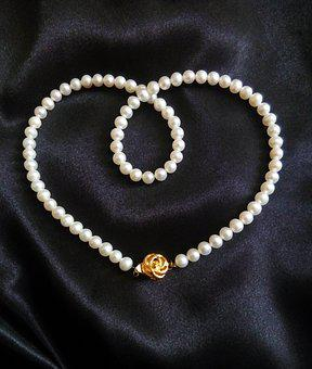 Pearl, Pearl Necklace, Jewelry, Jewel, Pearl Strand