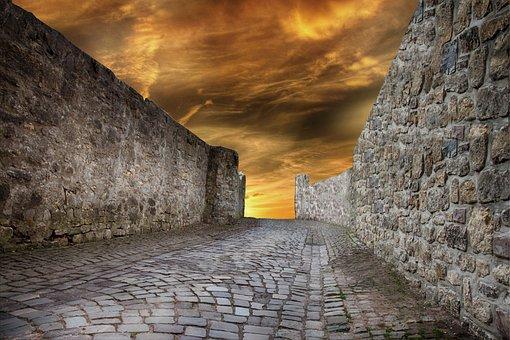 Wall, Fixing, City Wall, Protection, Cobblestones