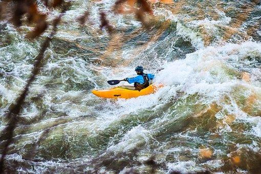 Kayak, Water, Rapids, Kayaking, Sport, Boat, Recreation