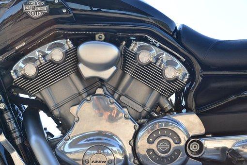 Harley Davidson, Motorcycle, Engine, Motor, Ride, Bike