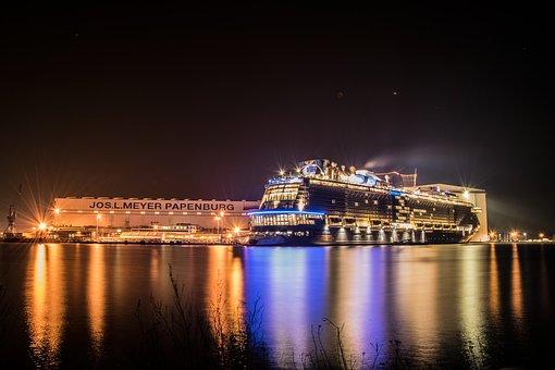 Meyer Werft, Ozeanriese, East Frisia, Shipping