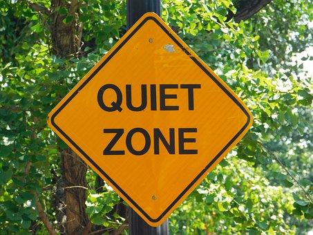 Quiet, Zone, Sign, Stop, Georgetown, Restrict, Rule
