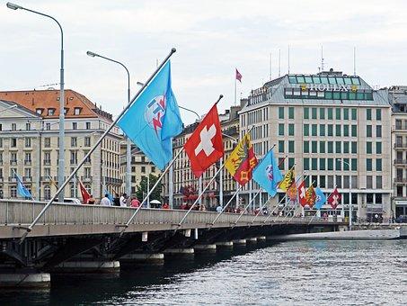 Geneva, Switzerland, Lac Léman, Lake Geneva, Rhône