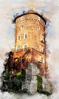 Wawel Castle, Tower, Poland, Krakow, Gothic