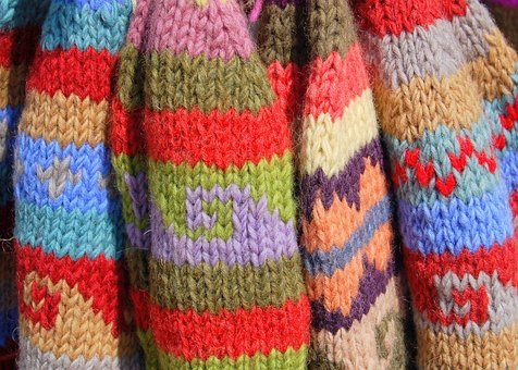 Hat, Wool, Warm, Colourful, Multi-colour, Knitted