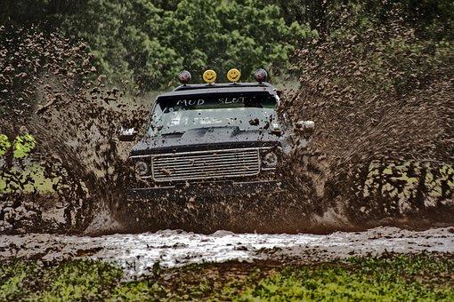 Truck, Mud, 4x4, Off-road, Race, Extreme, Mud Bog, Loud