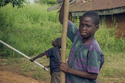 Africa, Nigeria, Country, Children, Child, Boy, African