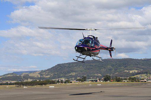 Helicopter, Flying, Aircraft, Sky, Travel, Transport