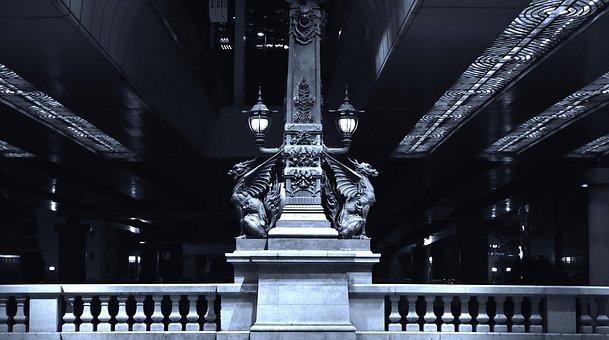 Phantasmal Image, Nihonbashi, Night, Bridge