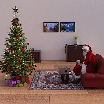 Christmas, Santa, Santa Claus, Deco, Nicholas
