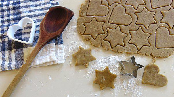 Baking, Cookies, Gingerbread, Christmas, Flour, Dough