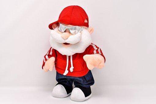 Santa Claus, Cool, Cap, Sunglasses, Funny, Fun