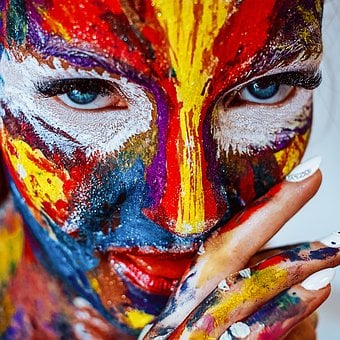 Paint, Makeup, Cracky, Girl, Cosmetics, Brush, Color