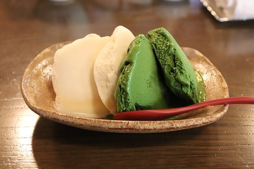 Ice, Matcha Green Tea, Dessert, Sweet, Delicious, Japan