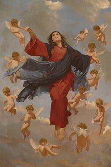 Maria, Ascension, Angel, Religion, Church, Faith