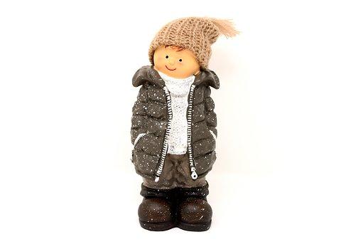 Boy, Figure, Winter, Winter Jacket, Cap, Deco, Child