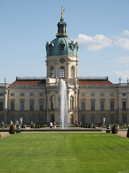 Charlottenburg Palace, Castle, Fontaine, Castle Park
