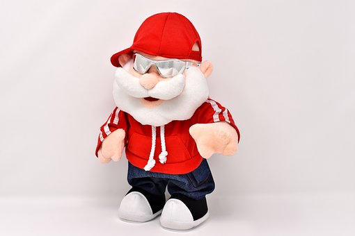 Santa Claus, Cool, Cap, Sunglasses, Funny, Fun