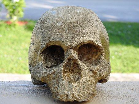 Skull, Golden Skull, Symbol, Golden, Death, Gold, Head
