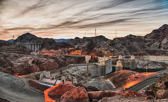Hoover Dam, Bridge, Dam, Hydroelectric, Construction