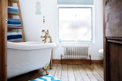 Bathroom, Bath, Interior, Bathtub, House
