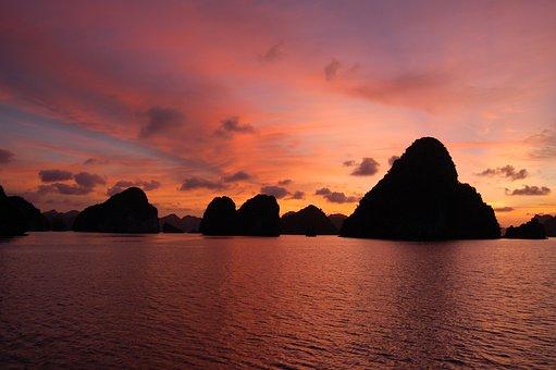 Sunset, Karst, Landscape, Mountain, Asia, Tourism