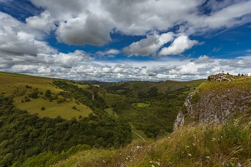 Landscape, Valley, Peak District, Manifold Valley