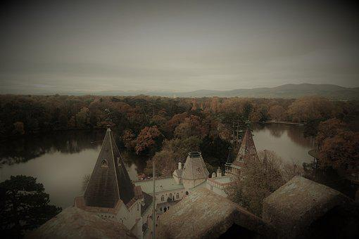Laxenburg, Castle, Waters, Park, View, Landscape