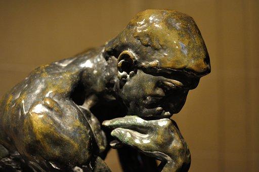 Think, Thinker, Statue, Sculpture, Figure, Man, Museum