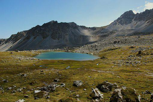 Glacial Lake, Alpine, Mountains, Landscape, Pass