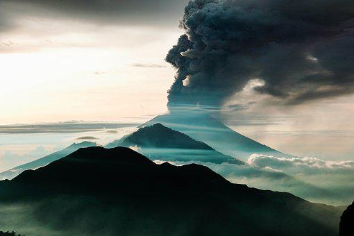 Bali, Indonesia, Mountain, Eruption, Travel, Nature