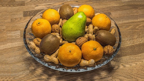 Fruit Bowl, Nuts, Fruit, Fruits, Healthy, Nutrition