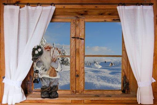 Winter, Wintry, Snowy, Window, Wooden Windows, Outlook