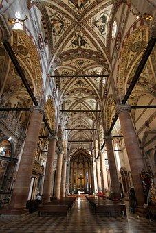 Church, Interior, Padova, Marble, Building, Structure