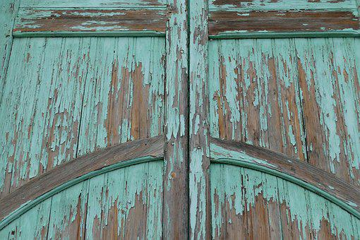 Door, Port, Wood, Paint, Peeled Off, Expired, Entrance