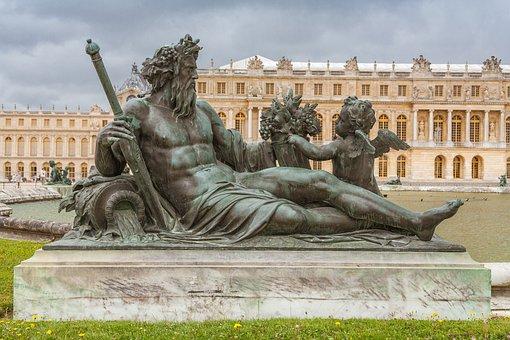 Versailles, Paris, Statue, Royal, Historical, Chateau