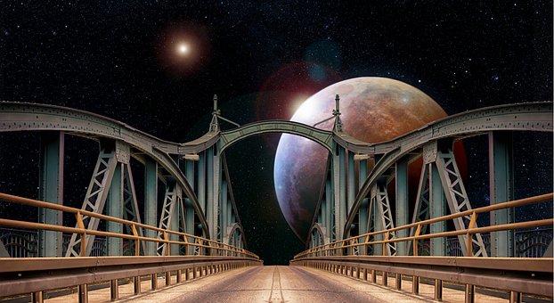 Bridge, Mars, Space, Planet, Technology, Science