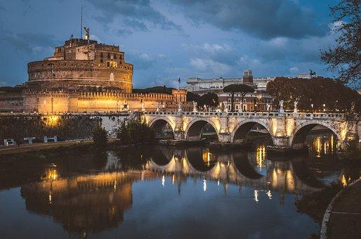 Rome, Castle, Castel, Sant'angelo, Landmark, Roman
