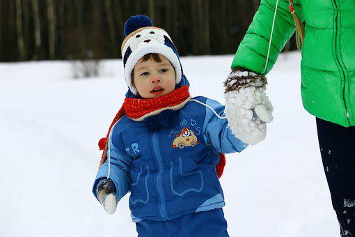 Baby, Winter, Snow, Snowdrift, Coldly, Small Child, Boy