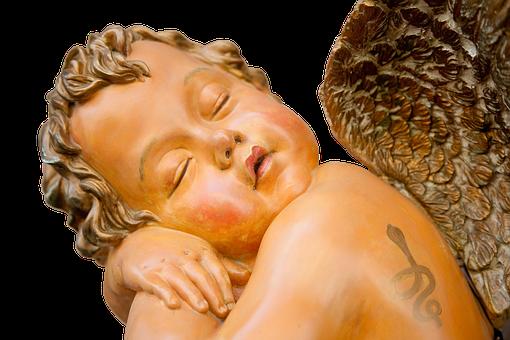 Angel, Statue, Wing, Sleeping, Artwork, Angel Figure