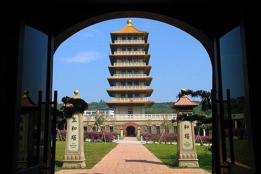Fo Guang Shan, Stupa, The Door