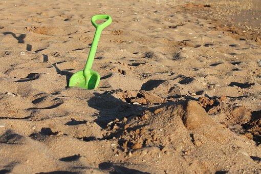 Sand, Summer, Green, Shovel