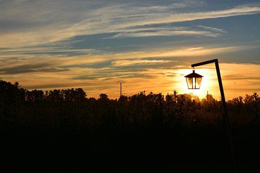 Sunset, Contrast, Backlight, Landscape, Sky, Sun